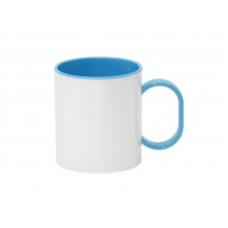 PLASTIC MUG 11 OZ LIGHT BLUE