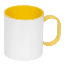 PLASTIC MUG 11oz YELLOW