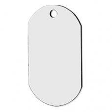 ID TAG - (ALUMINUM) WHITE GLOSS 1-sided PACK OF 10